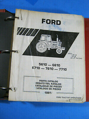 Ford Tractor 5610 6610 6710 7610 7710 Parts Catalog 1981 Series 10