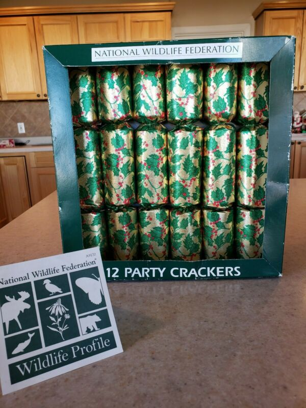 """Robin Reed Christmas Party Crackers Open Display Set of 6 10"""" Holiday Crackers"""