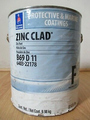 Sherwin-williams Zinc Clad Dust Powder 22lb Protective Marine Coatings Part F