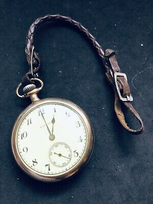 Vintage Hamilton 17 Jewel Gold Field Open Face Pocket Watch 1920,s Royal Exc