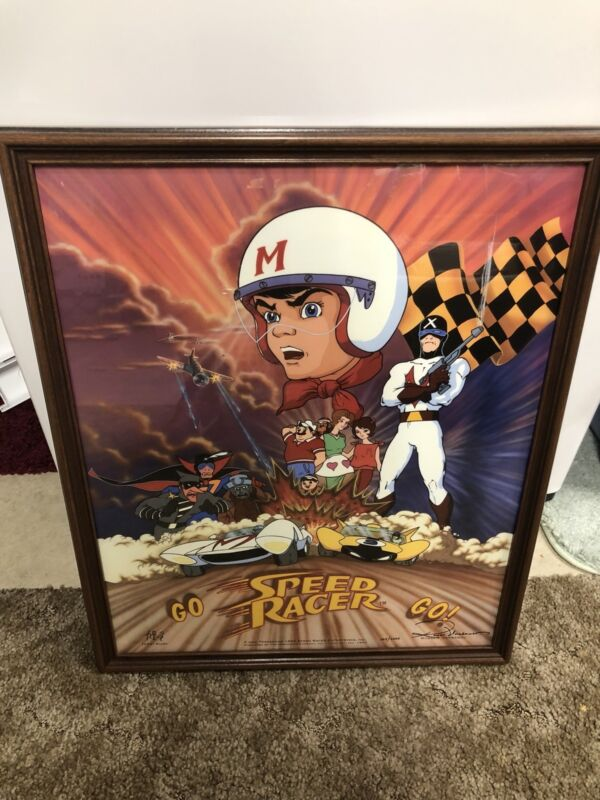 Vintage SPEED RACER  Poster Print Framed 1993.  #360/3000. Mach 5 Racer X