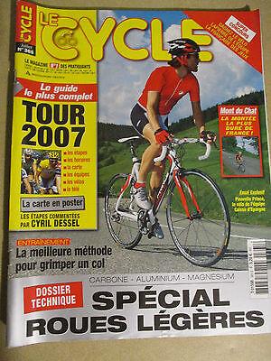 LE CYCLE N°365 : JUILLET 2007 : GUIDE DU TOUR DE FRANCE AVEC CARTE POSTER