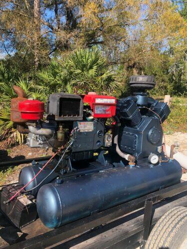 Air compressor 140 CFM, 85 PSI 25HP Diesel Engine, with trailer.