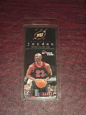 1996 Michael Jordan World Com 10 Minute Phone Card Sealed Chicago Bulls Unused