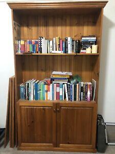 Tasmanian Oak Buffet Hutch Bookcase