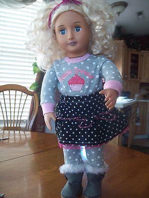Battat 18  Our Generation Doll Curly Blonde Hair  Blue Eyes Sweet Dreams