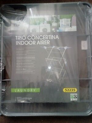 Trio concertina indoor airer