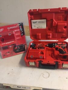 Milwaukee 18v Drill and  Charger w/ 3.0 amp battery