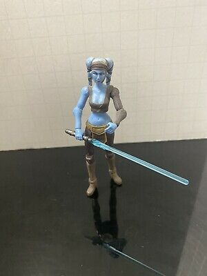 "Star Wars The Clone Wars Aayla Secura CW40 3.75"" Figure Loose CW 40 Rare"
