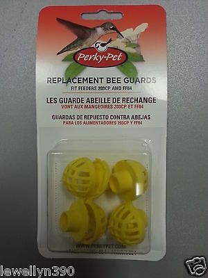 PERKY-PET  YELLOW BEE GUARDS Fits 203 series Feeders