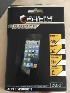iPhone 5 invisible shield by Zagg