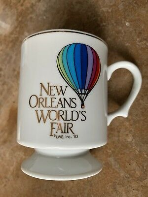 1984 New Orleans World's Fair Hot Air Balloon Pedestal Coffee Mug/Tea Cup 8 oz.  for sale  Slidell