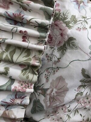 Country Cottage Style Vintage Floral Fabric Curtains 218 cm Wide 141 Cm Long