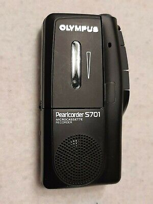 Olympus Pearlcorder S701 Micro Cassette Recorder - Tested And Working