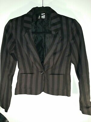 H&m Divided Size 4 Striped Blazer
