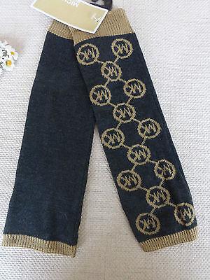BNWT Michael Kors Grey Camel Logo Knit Fingerless Gloves