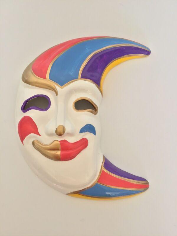 Vintage Ceramic Mask Masquerade Mardi Gras Wall Art