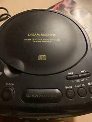 Sony Dream Machine ICF-CD814 Stereo CD Clock Radio Dual Alarm Aux In Jack