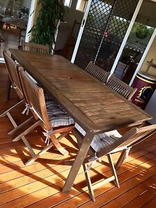 Outdoor Timber Dining set (6 seater) Redland Bay Redland Area Preview