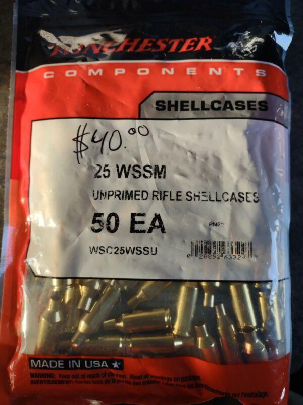 Winchester 25 WSSM Brass