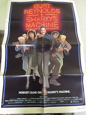 Vintage 1 sheet 27x41 Movie Poster Sharky's Machine 1981 Burt Reynolds