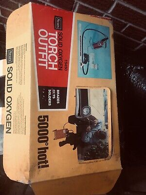 Sears Solid Oxygen Welding Outfit-heavy Duty-new Old Stock 5000 Degrees