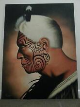 Moari Chief Canvas Painting Albert Park Port Phillip Preview