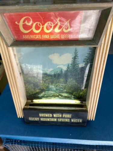 Vintage Coors Beer Shadow Box Lighted Bar Sign