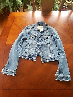 Abercrombie Distressed Denim Jacket Size XS