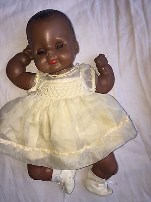 Vogue Afro American Baby Black Doll 1964 E Wilkin