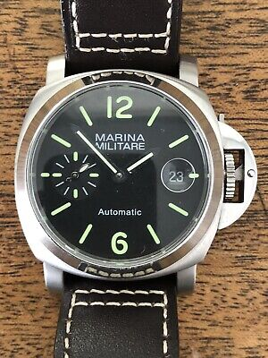 Parnis Mens Marina Militare Automatic Watch Stainless Steel 300M