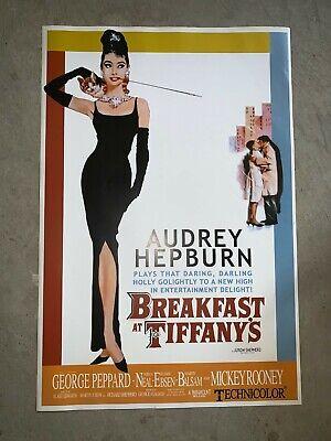BREAKFAST AT TIFFANY'S - MOVIE POSTER 26x36 - CLASSIC AUDREY (Breakfast Tiffanys Movie Poster)