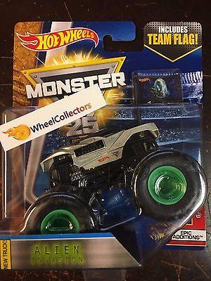 Alien Invasion   2017 Monster Jam Hot Wheels Case K
