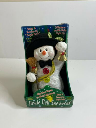 Rubber Dancing Snowman With Lights Sings Jingle Bells