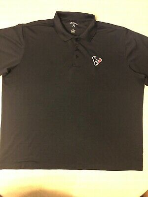 Used, Mens XL Xtra Lite Houston Texans Golf Polo Shirt Antigua NFL Short Sleeve Large for sale  Fort Worth