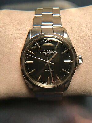 Vintage Rolex Air King Model 5500 Black Dial & Rolex Stainless Steel Bracelet