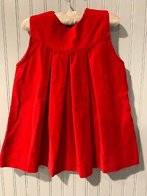 Vintage Red Crushed Velvet (feel) Dress 3T?
