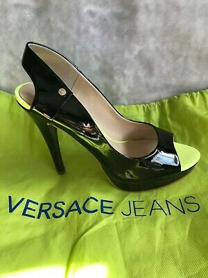 VERSACE JEANS BLACK SHOES SIZE 41 UK 7