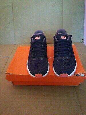 Nike Women's Air Zoom 11 Running Shoe, Purple Dynasty, Bright Mango, Size -