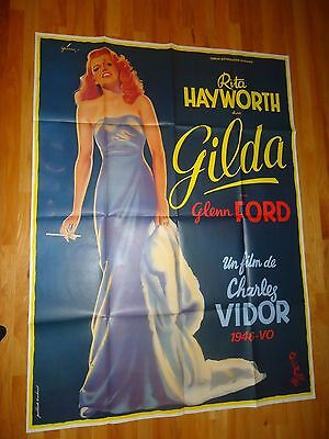 Gilda ORIGINAL 1972R Giant French Movie Poster Rita Hayworth Glenn Ford