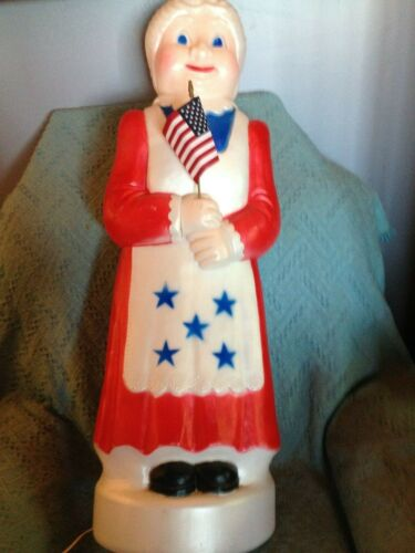 """VNTG 2002 4TH OF JULY UNION 40"""" AMERICANA MRS. CLAUS (RED/WHITE/BLUE) BLOW MOLD"""