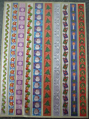 Dufex Stickers-Christmas Borders1 - 1 sheet for card making and scrapbooking ()