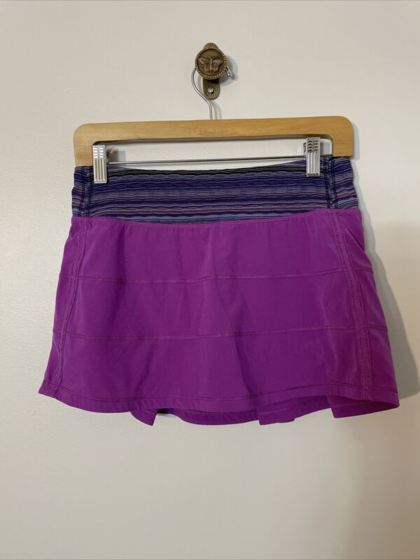 Lululemon Run: Skirt Size 6 Purple Shorts Pocket