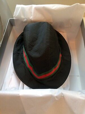 New Never Used Very Rare Lined in Cashmere/Lana Wool Classic Gucci Fedora XL