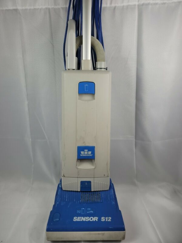 WINDSOR SENSOR S12 COMMERCIAL UPRIGHT VACUUM CLEANER W/ATTACHMENTS 3F