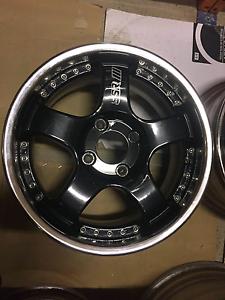 """Genuine set SSR Professor SP1 16"""" 4x114.3 black jdm wheels rims Castle Hill The Hills District Preview"""