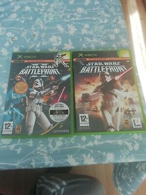 xbox Original STAR WARS BATTLEFRONT x2 Games 1 + II 2 PAL UK Version worldwide p