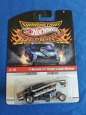 2010 Hot Wheels Demons 71 MUSTANG FUNNY CAR Plueger & Gyger EXCELLENT CARD