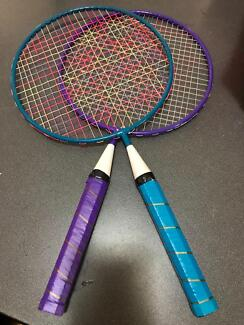 Kids Badmington rackets, Table tennis bats and Gripball gloves