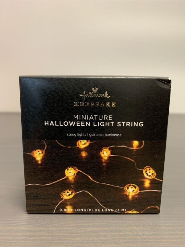 2021 Hallmark Keepsake Miniature Pumpkins Halloween String Lights Ornament NIB